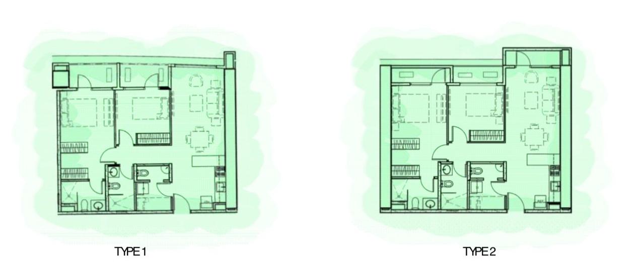 2-bedroom 68-87 sqm